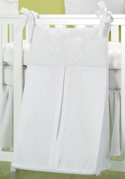 Luxusní kapsář na plenky - Srdíčko bílé