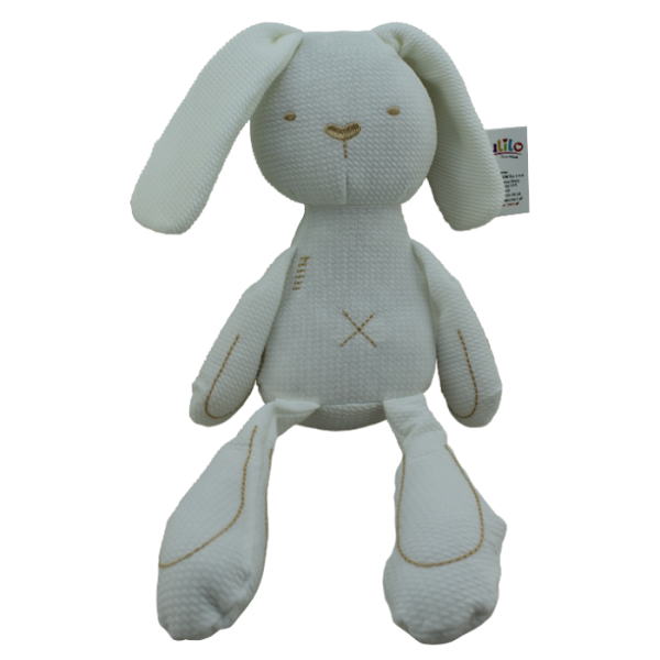 Plyšová hračka Tulilo Králíček, 42 cm - bílý
