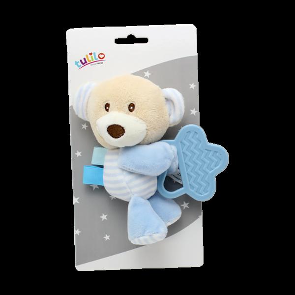 Plyšová hračka Tulilo s kousátkem Medvídek, 16 cm - modrý