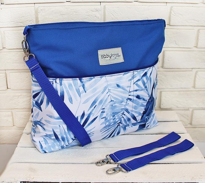 Stylová taška na kočárek Baby Nellys Hand Made - Tukan - modrá, Ce19