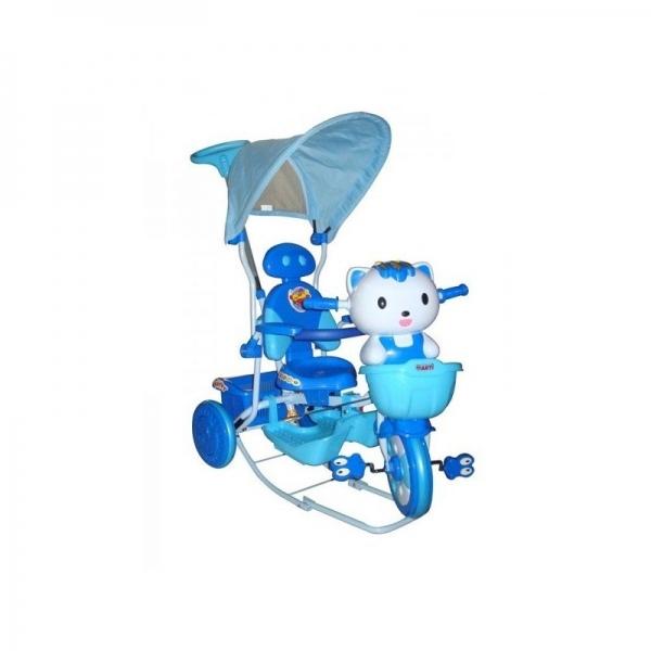 Dětská multifunkční tříkolka Euro Baby Kočička - modrá