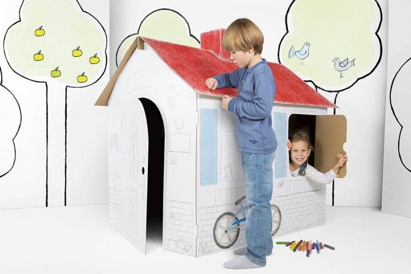 Dětský kartonový domek Tektorado velký