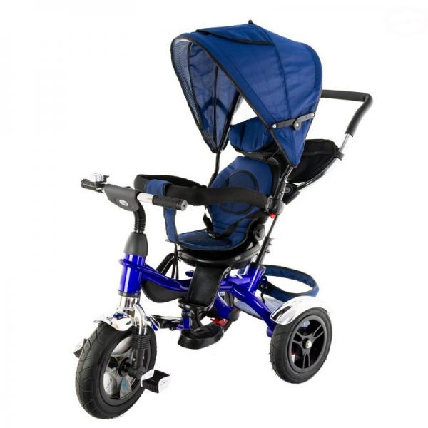 Dětská tříkolka Euro Baby  s vodící tyčí 2019 - modrá