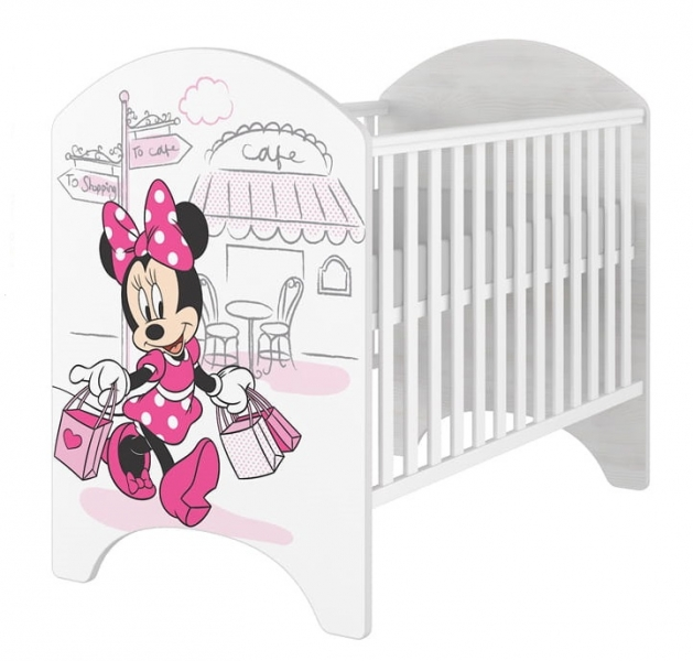 BabyBoo Dětská postýlka Disney Minnie/Shopping, 120x60cm