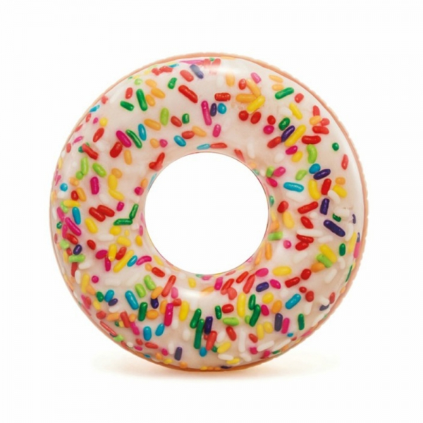 Nafukovací kruh donut s posypem 114 cm