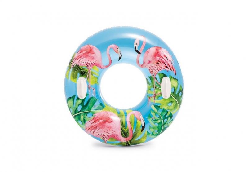 Nafukovací kruh Hawaii s úchyty, 97 cm