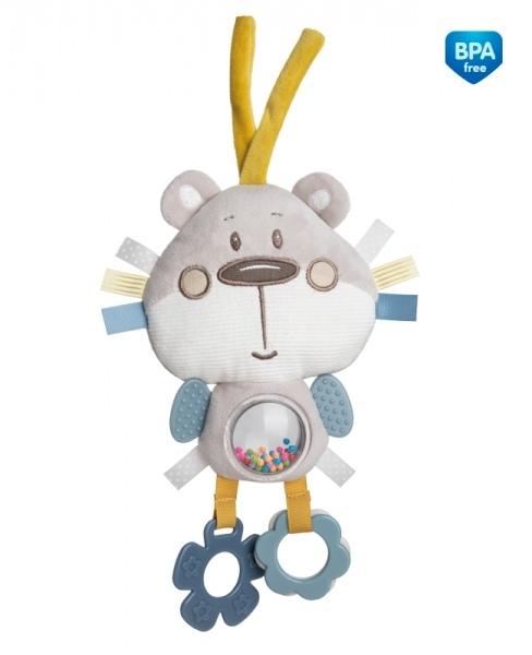 Plyšová edukační hračka na zavazování Canpol Babies - Medvídek šedý