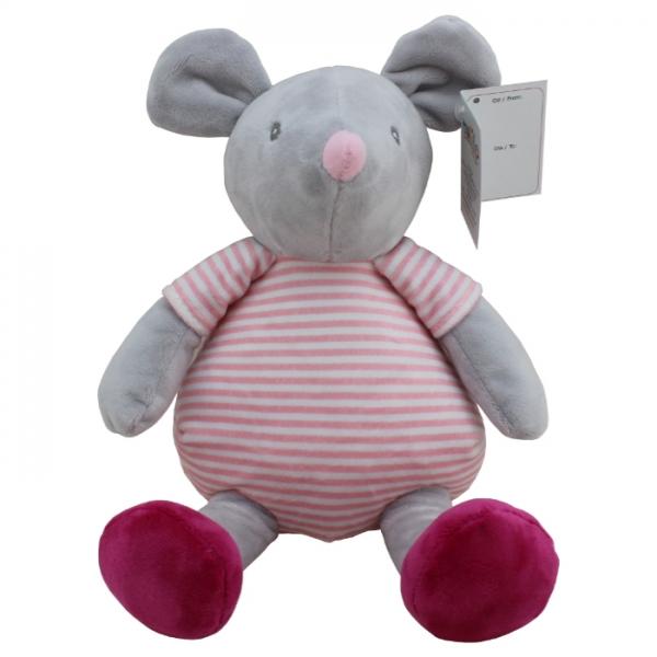 Plyšová hračka Tulilo Myška, 20 cm - šedá