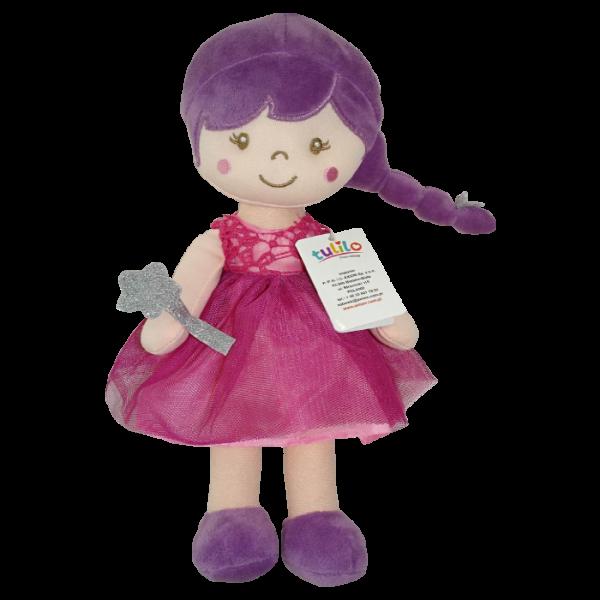 Hadrová panenka Tulilo Arabela, 30 cm - fialová