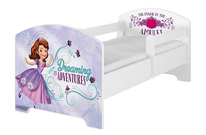 BabyBoo Dětská postel Disney - Sofie - bílá, s matrací