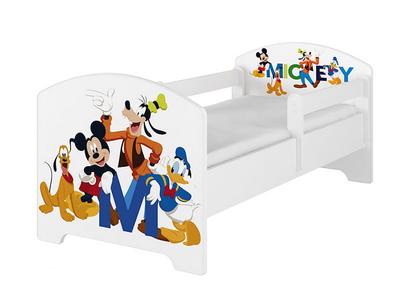 BabyBoo Dětská postel Disney - Mickey s kamarády - bílá, s matrací, 160 x 80 cm
