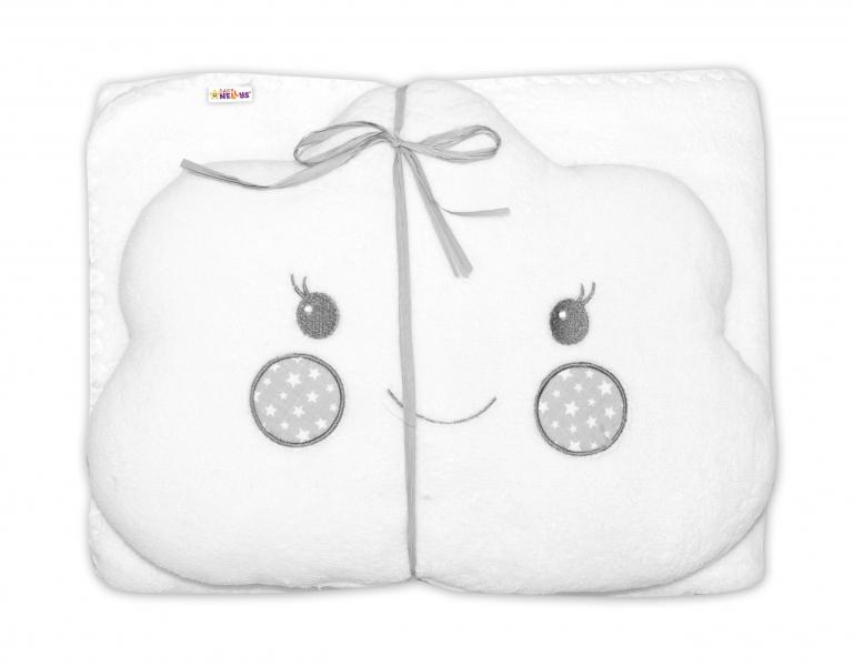 Dětská sada deka + polštářek Mráček Baby Nellys ® - bílá