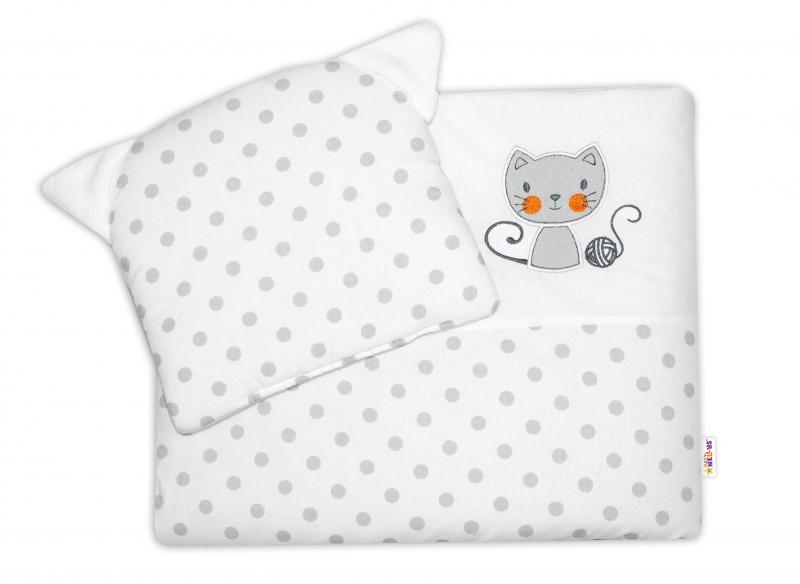 Dětská sada do kočárku Baby Nellys ® Cat - bubble bílá