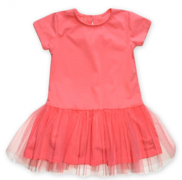 Dívčí šaty K-Baby - lososové, vel. 98vel. 98 (24-36m)
