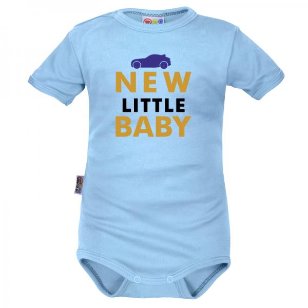 Body krátký rukáv Dejna New little Baby - Boy, modré, vel. 68, Velikost: 68 (4-6m)