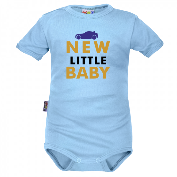 Body krátký rukáv Dejna New little Baby - Boy, modré, vel. 86, Velikost: 86 (12-18m)
