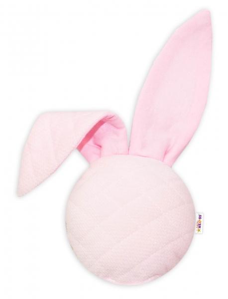 Baby Nellys Chrastítko/přítulníček, Mini zajíček - Velvet, růžový