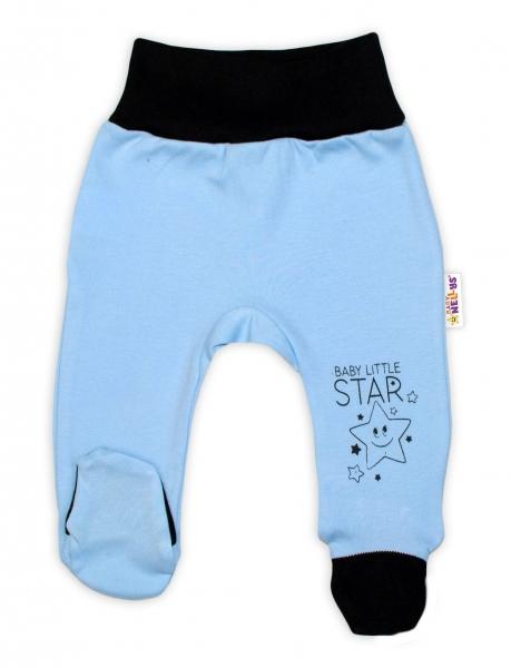 Baby Nellys Kojenecké polodupačky, modré - Baby Little Star, vel. 68