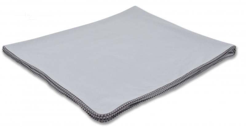 Baby Nellys Letní deka s mini bambulkami, jersey, 100 x 75 cm - šedá/šedý lem