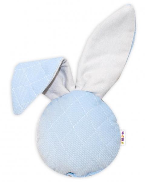 Baby Nellys Chrastítko/přítulníček, Mini zajíček - Velvet, modrý