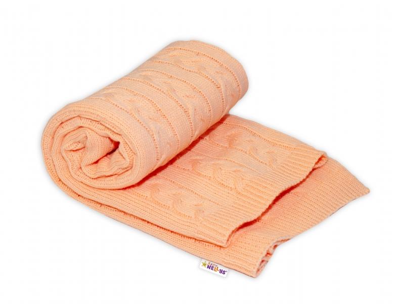 Dětská akrylová deka, dečka Baby Nellys, 110 x 80 cm - meruňková