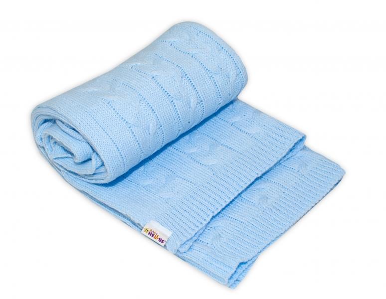 Dětská akrylová deka, dečka Baby Nellys, 110 x 80 cm - sv. modrá
