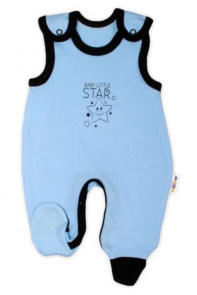 Kojenecké bavlněné dupačky Baby Nellys, Baby Little Star - modré, vel. 56