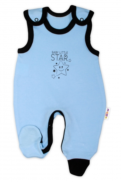 Kojenecké bavlněné dupačky Baby Nellys, Baby Little Star - modré, vel. 74