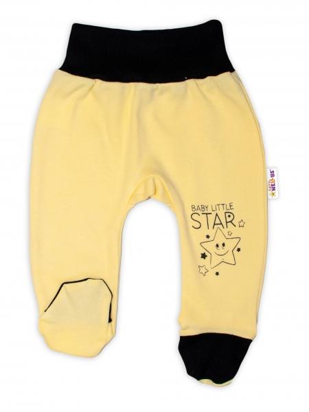 Baby Nellys 2-dílná sada body kr. rukáv + polodupačky, žlutá - Baby Little Star, vel. 68