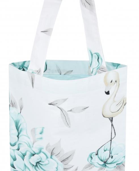 Bavlněná taška Baby Nellys Maxi pro mámy - Plameňák mátový