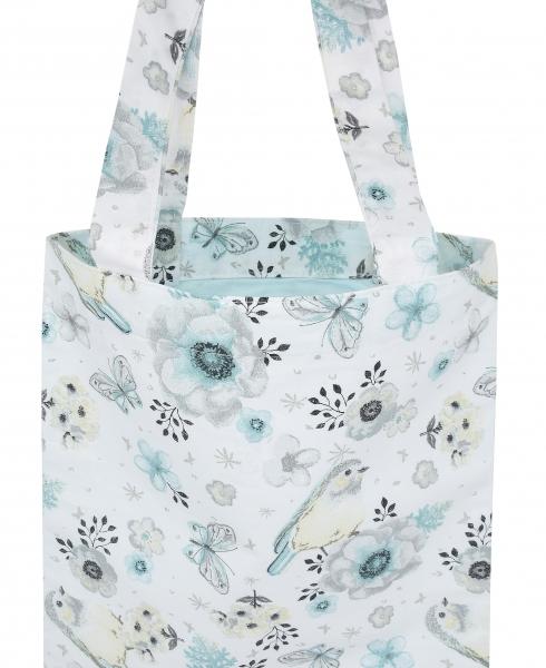 Bavlněná taška Baby Nellys Maxi pro mámy - Ptáčci mátoví