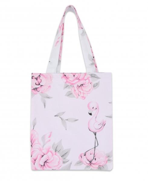 Bavlněná taška Baby Nellys Mini pro děti - Plameňák růžový