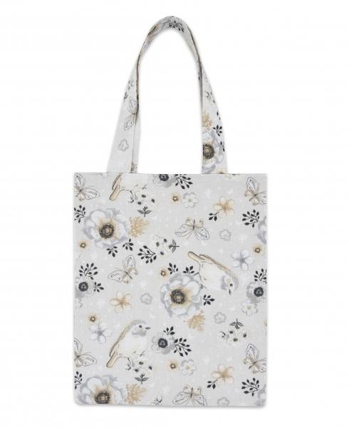 Bavlněná taška Baby Nellys Mini pro děti - Ptáčci béžoví
