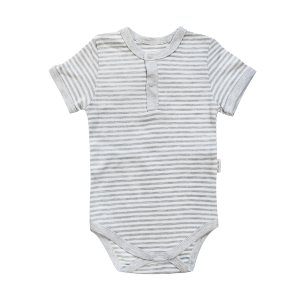 Dětské body/polo Mamatti krátký rukáv Gentleman - šedé, vel. 98
