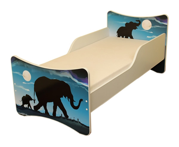 NELLYS Dětská postel se zábranou Afrika