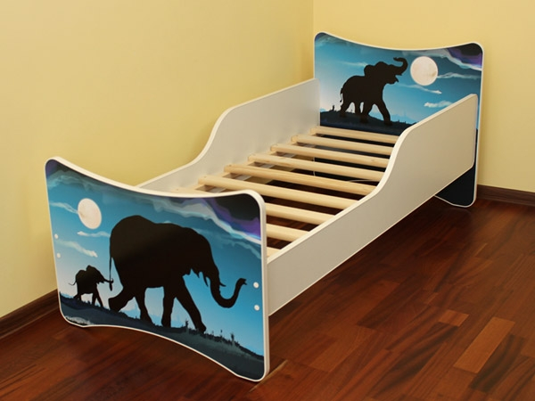NELLYS Dětská postel se zábranou Afrika - 160x70 cm