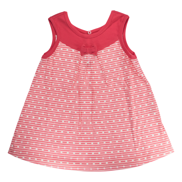 Bavlněné šatičky Mamatti na ramínka Love Girl - červené, vel. 104