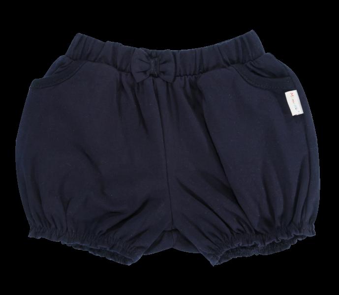 Dětské bavlněné kalhotky, kraťásky s mašlí Mamatti Princezna - granátové, vel. 104vel. 98 (24-36m)