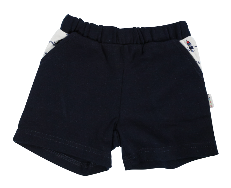 Kojenecké bavlněné kalhotky, kraťásky Mamatti Maják - granátové, vel. 86vel. 86 (12-18m)