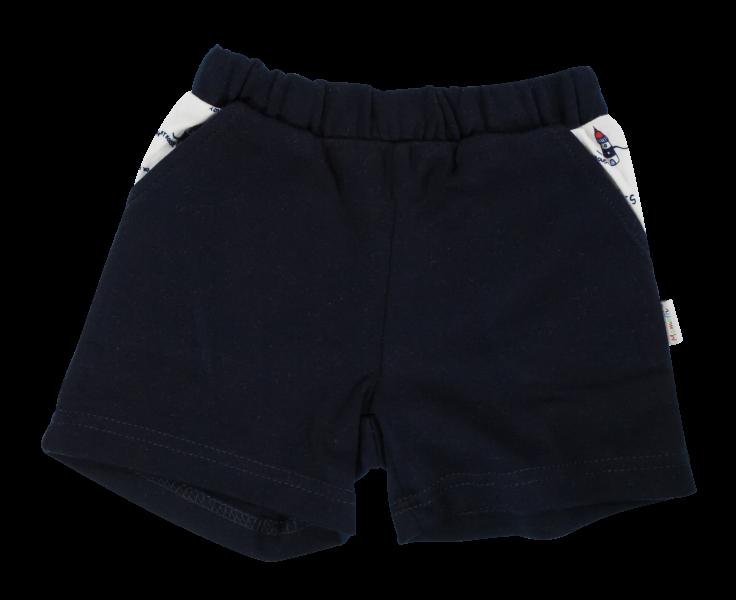 Kojenecké bavlněné kalhotky, kraťásky Mamatti Maják - granátové, vel. 98