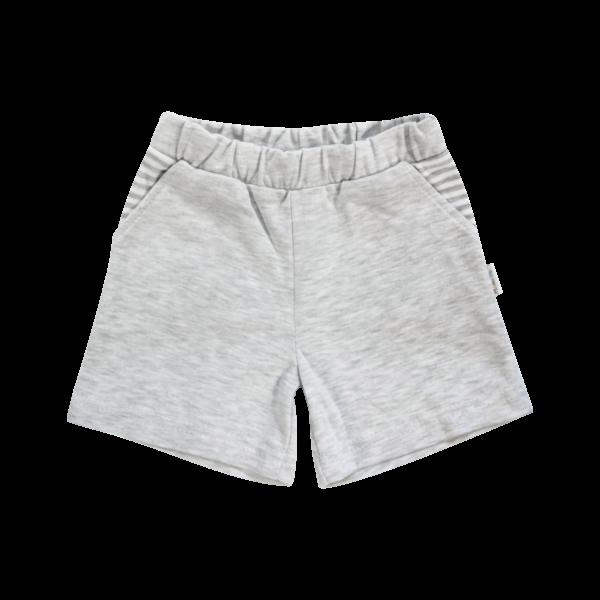 Kojenecké bavlněné kalhotky, kraťásky Mamatti Gentleman - šedé, vel. 104vel. 104