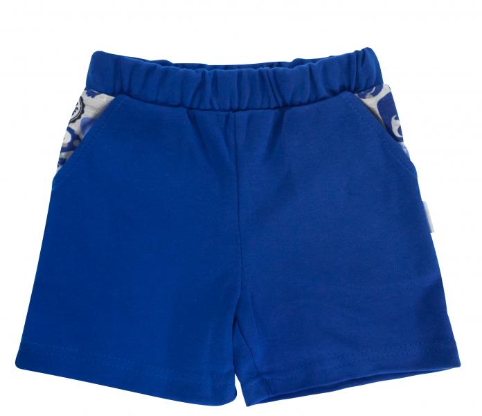 Kojenecké bavlněné kalhotky, kraťásky Mamatti Chameleon - modré, vel. 80