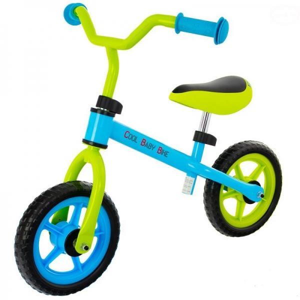 """Euro Baby Dětské odrážedlo, kolo Cool Baby - zeleno/modré, kola 9.5"""""""