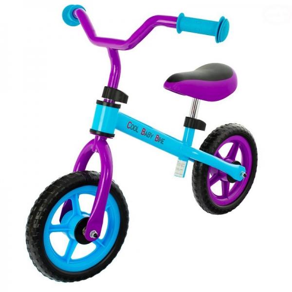 """Euro Baby Dětské odrážedlo, kolo Cool Baby - fialovo/modré, kola 9.5"""""""