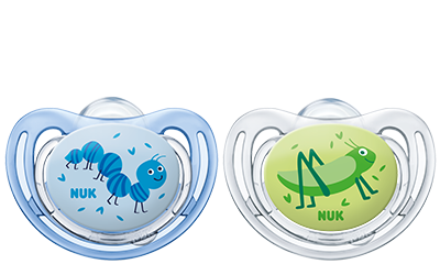Dudlík Freestyle Nuk   0-6 m kluk - modrý/zelený
