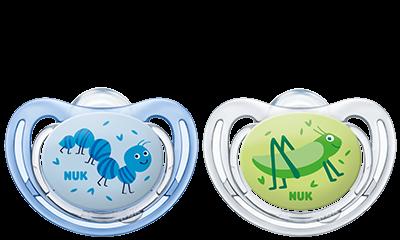 Dudlík Freestyle Nuk   6-18 m kluk - modrý/zelený