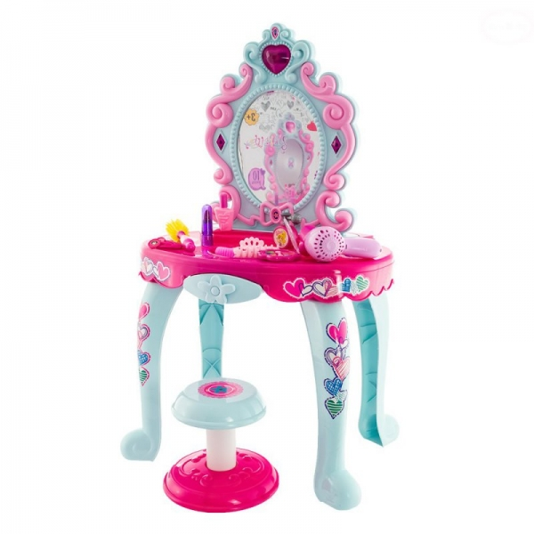 Dívčí toaletní stoleček Euro Baby s židličkou