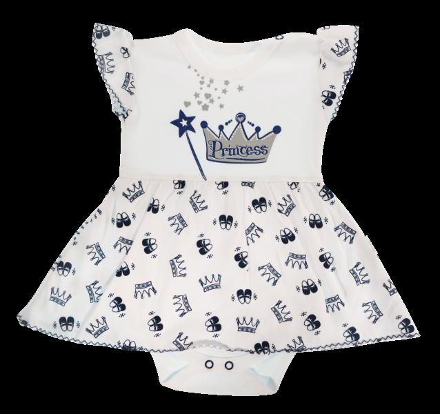 Bavlněné sukničkobody Mamatti Princezna - krátký rukáv - granátové, vel. 80vel. 80 (9-12m)