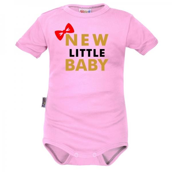 Body krátký rukáv Dejna New little Baby - Girl, růžové, vel. 80, Velikost: 80 (9-12m)