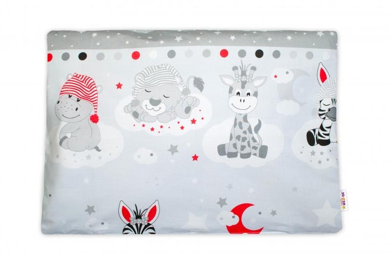 Baby Nellys  Povlak na polštářek Safari Baby, 40x60 cm - šedý